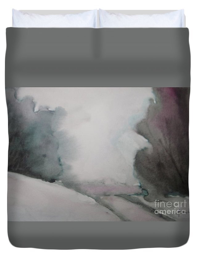 Christmas Eve Duvet Cover featuring the painting Christmas Eve by Vesna Antic