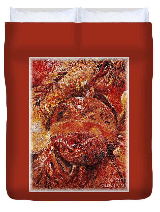 Christmas Duvet Cover featuring the painting Christmas Glitter by Nadine Rippelmeyer