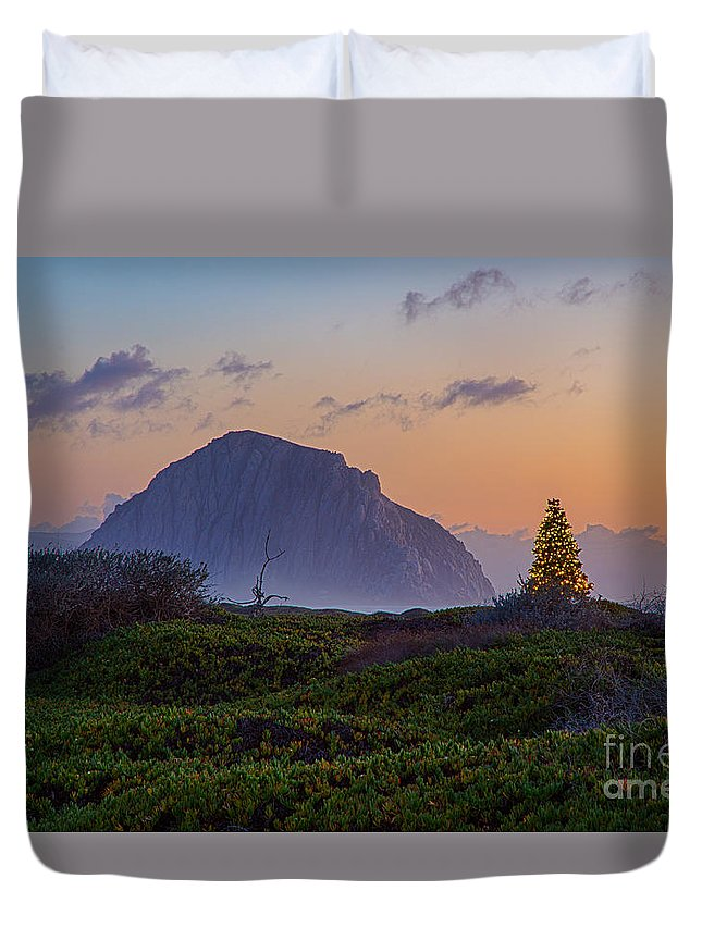 Christmas Duvet Cover featuring the photograph Christmas Time At The Rock by Mimi Ditchie
