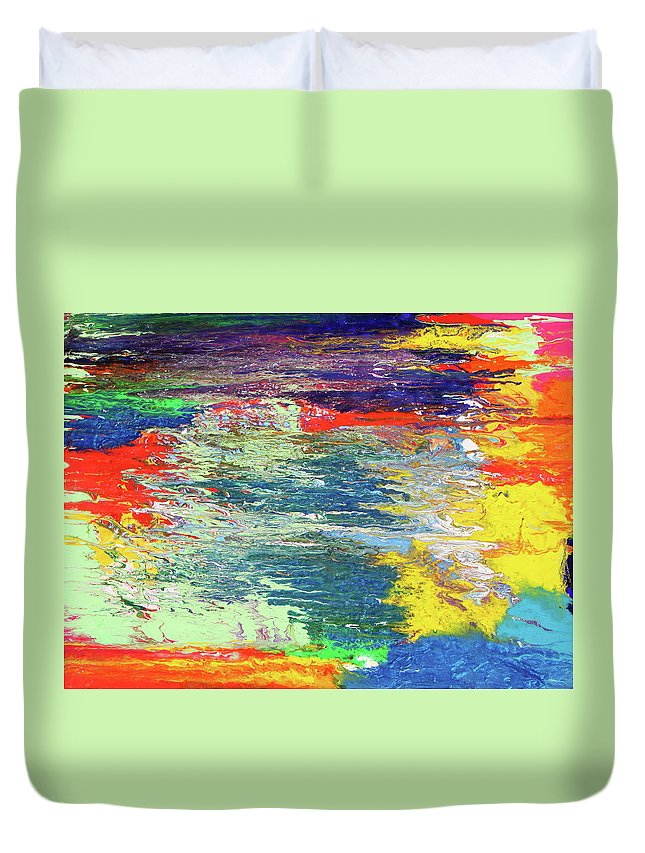 Fusionart Duvet Cover featuring the painting Chromatic by Ralph White