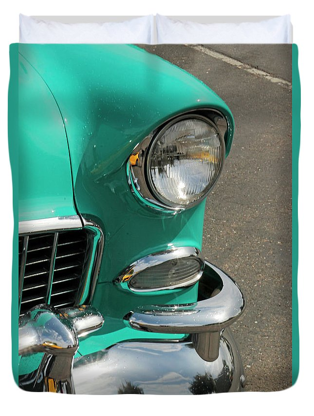 Antique Duvet Cover featuring the photograph Chrome by Pauline Darrow