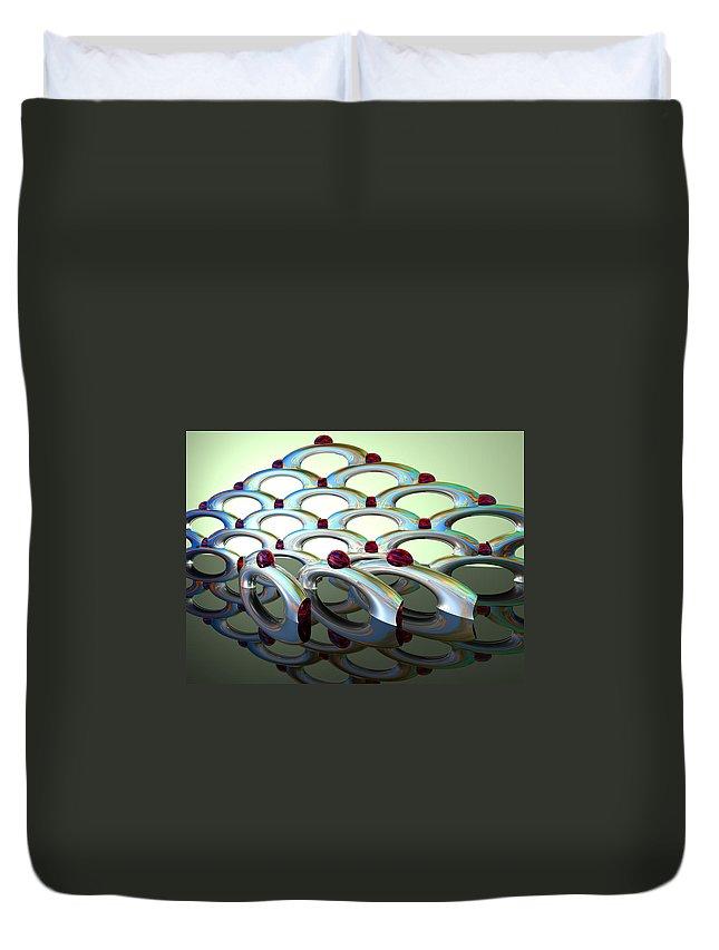 Scott Piers Duvet Cover featuring the painting Chrome Sundae by Scott Piers