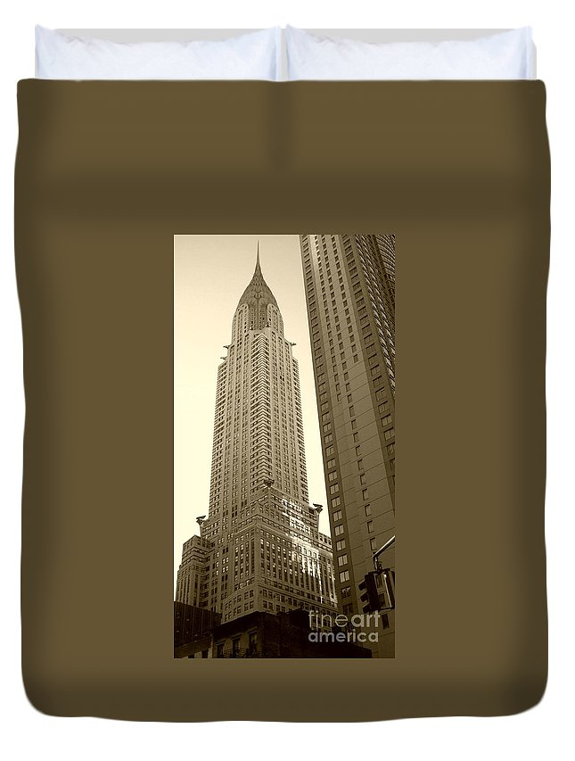 New York Duvet Cover featuring the photograph Chrysler Building by Debbi Granruth