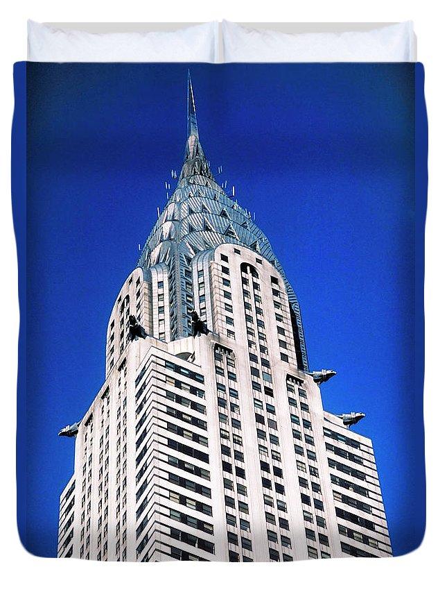 Chrysler Building Duvet Cover featuring the photograph Chrysler Building by John Greim