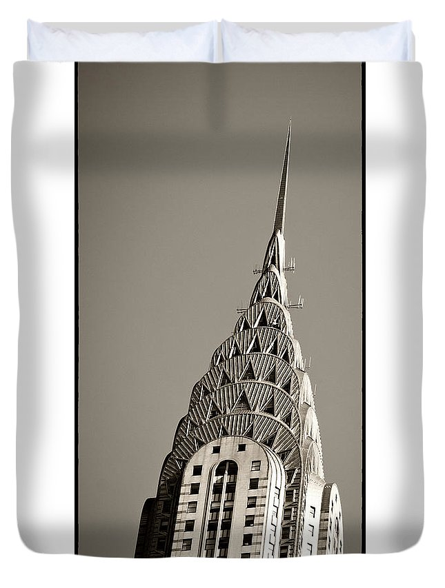 Chrysler Buidling Duvet Cover featuring the photograph Chrysler Building New York City by Juergen Held