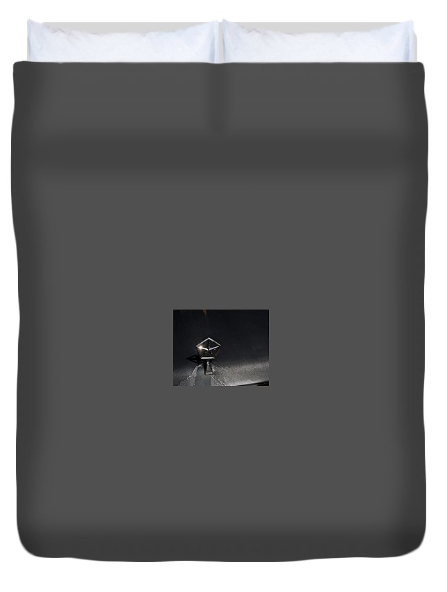 Chrysler. Automobile.  Duvet Cover featuring the photograph Chrysler Star by John Taylor