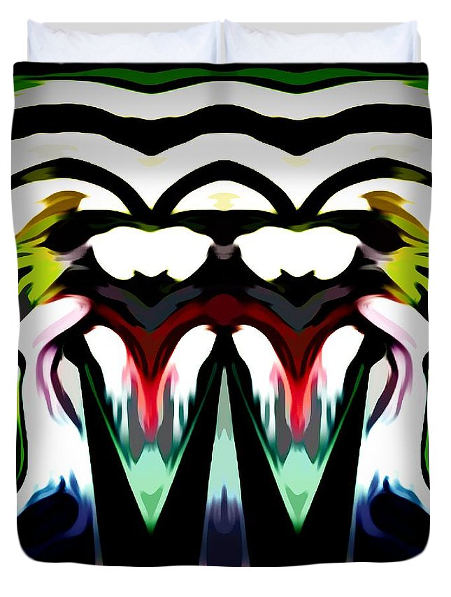 Digital-art Duvet Cover featuring the digital art Chuckie The Cave Dweller by Debra Lynch