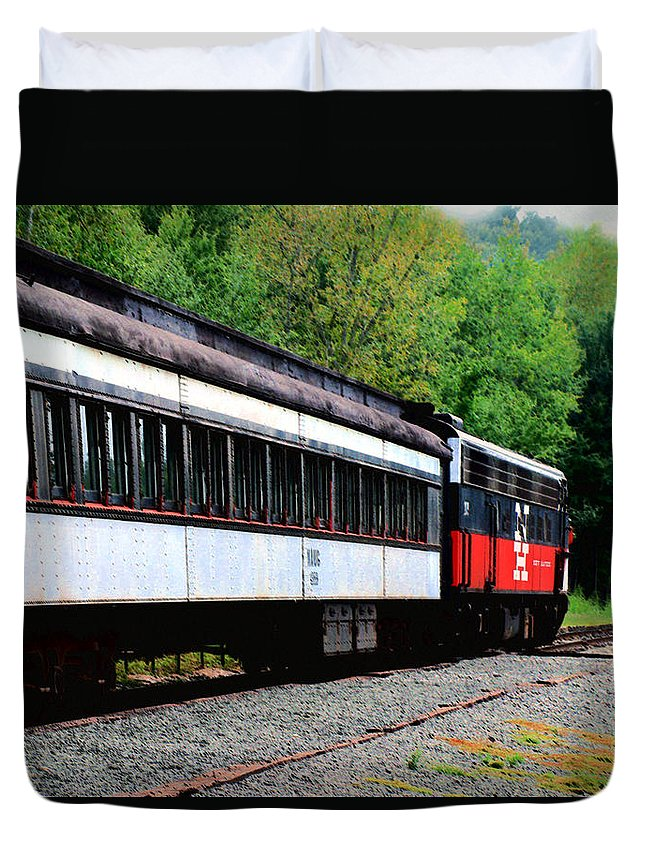 Train Duvet Cover featuring the photograph Chugging Along by RC DeWinter