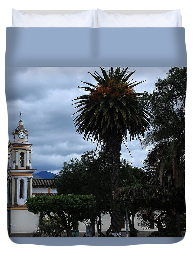 Church Duvet Cover featuring the photograph Church And Park by Robert Hamm