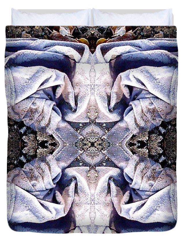 Abstract Duvet Cover featuring the digital art Church Clothing by Ron Bissett