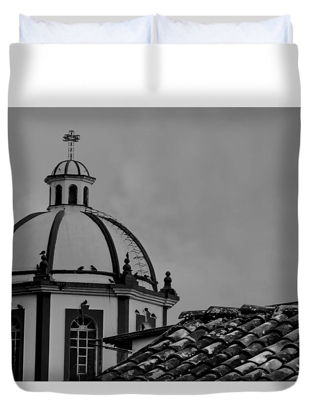 Church Duvet Cover featuring the photograph Church Dome 1 by Totto Ponce