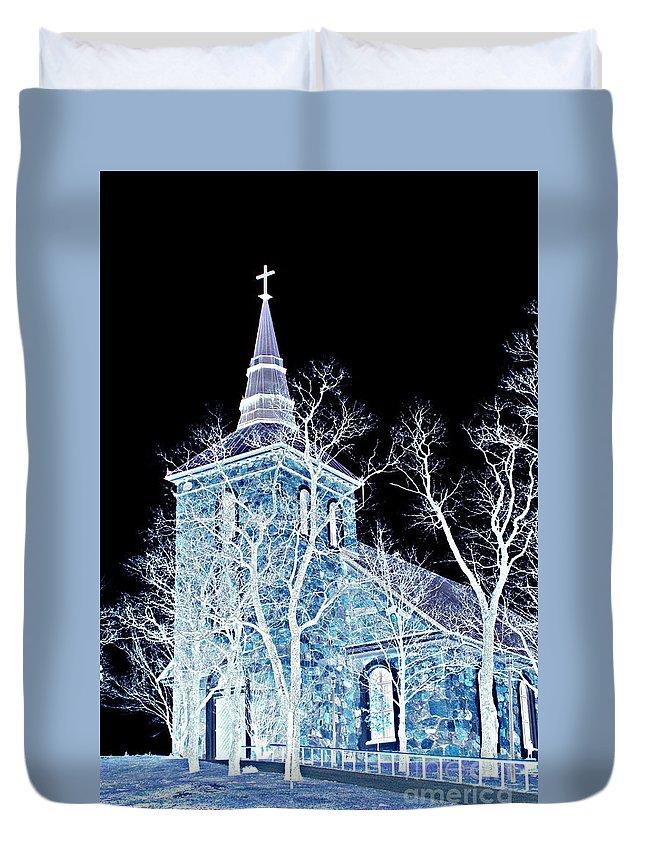 Church Duvet Cover featuring the photograph Church by Esko Lindell