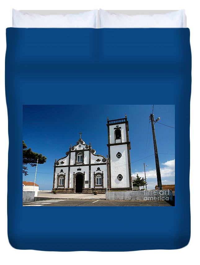 Sao Miguel Duvet Cover featuring the photograph Church In The Azores by Gaspar Avila