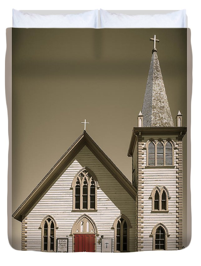 Architecture Duvet Cover featuring the photograph Church by Jim Thompson