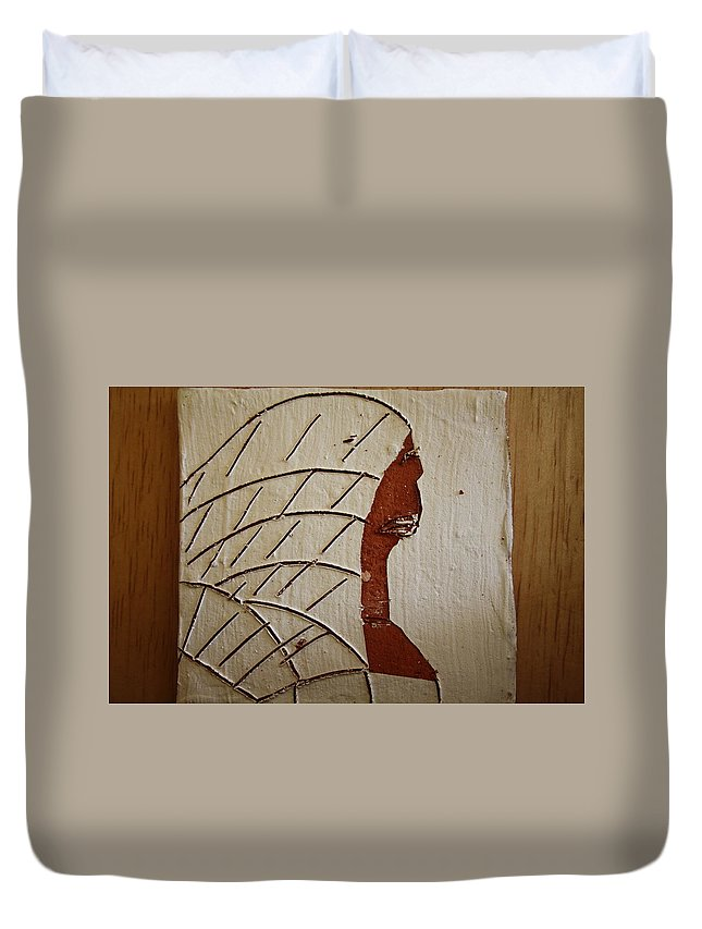 Jesus Duvet Cover featuring the ceramic art Church Lady 2 - Tile by Gloria Ssali