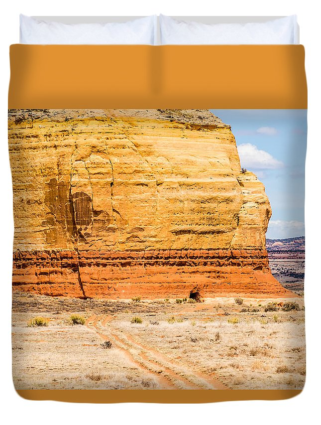 Park Duvet Cover featuring the photograph Church Rock Us Highway 163 191 In Utah East Of Canyonlands Natio by Alex Grichenko