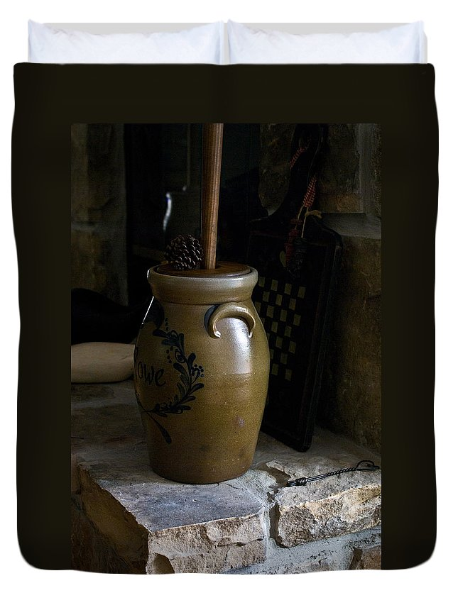 Churn Duvet Cover featuring the photograph Churn And Hearth by Douglas Barnett
