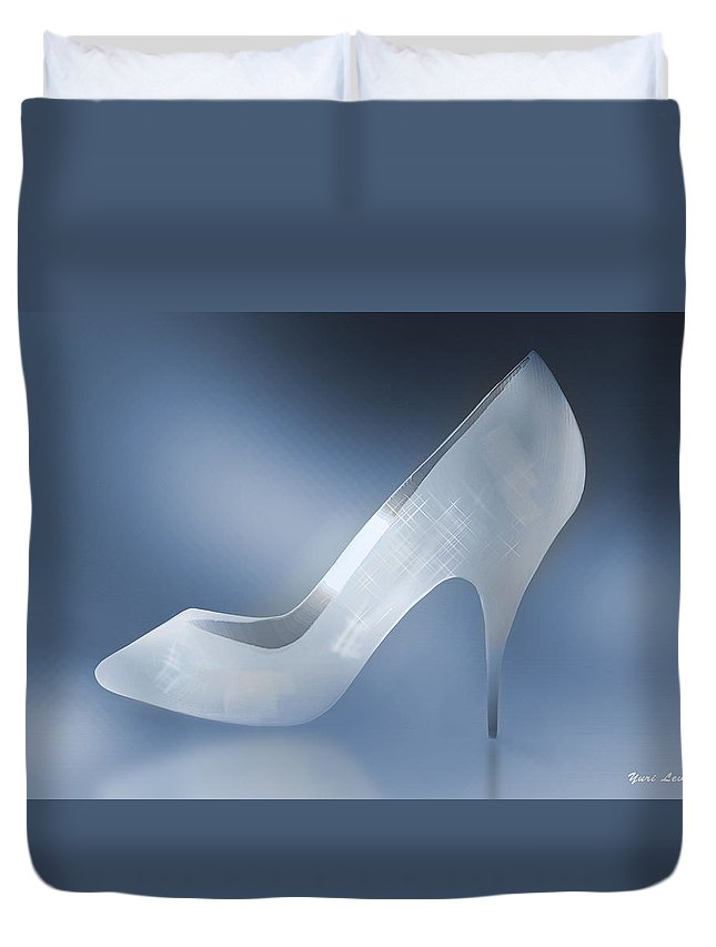 Shoes Duvet Cover featuring the photograph Cinderella's Slipper by Yuri Lev