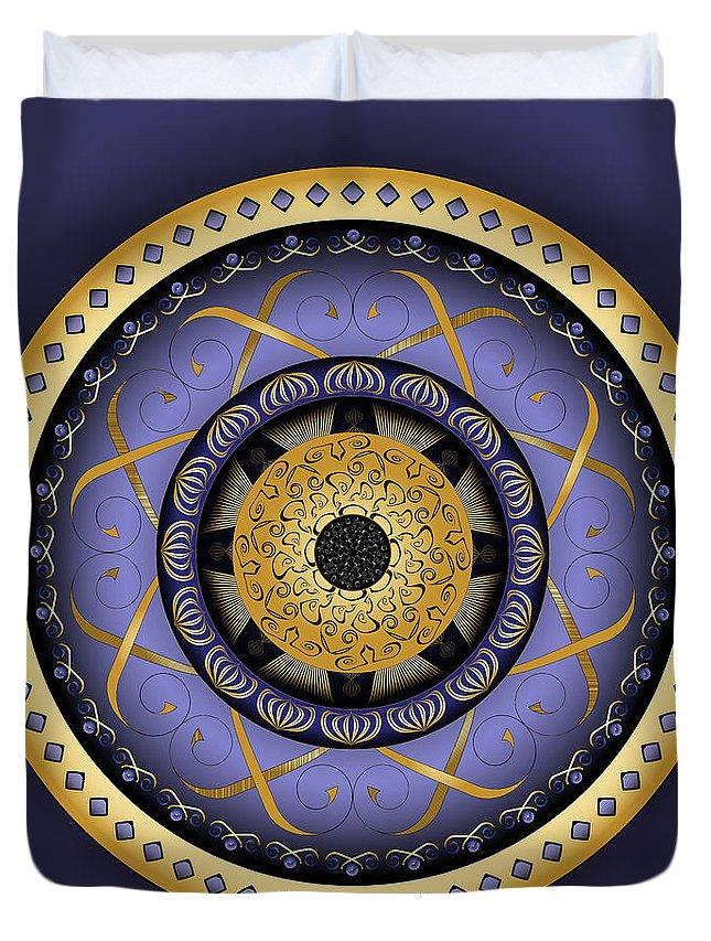 Mandala Duvet Cover featuring the digital art Circularium No. 2555 by Alan Bennington