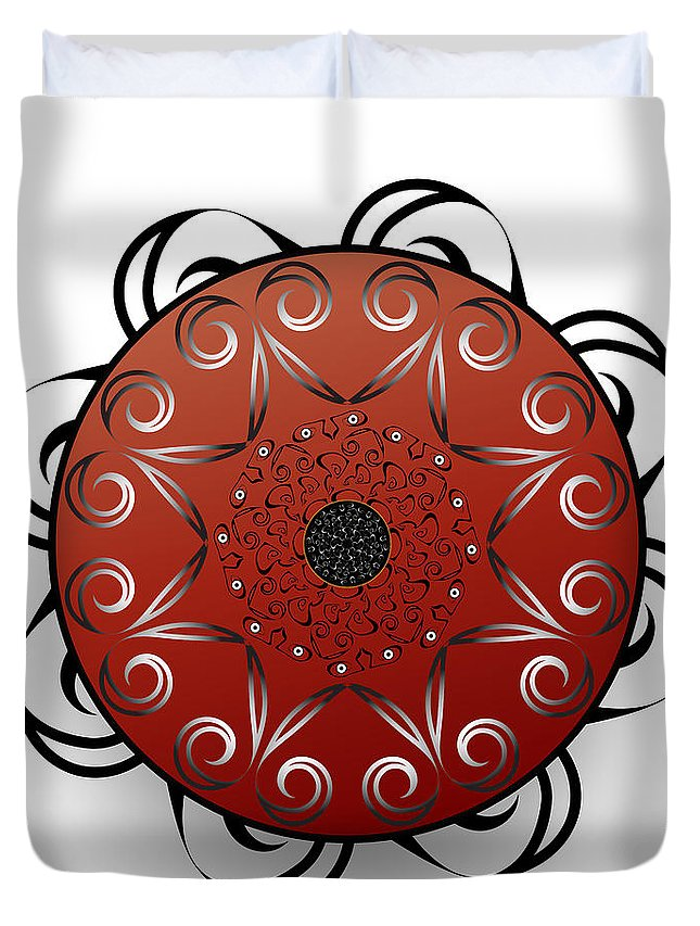 Mandala Duvet Cover featuring the digital art Circularium No. 2556 by Alan Bennington