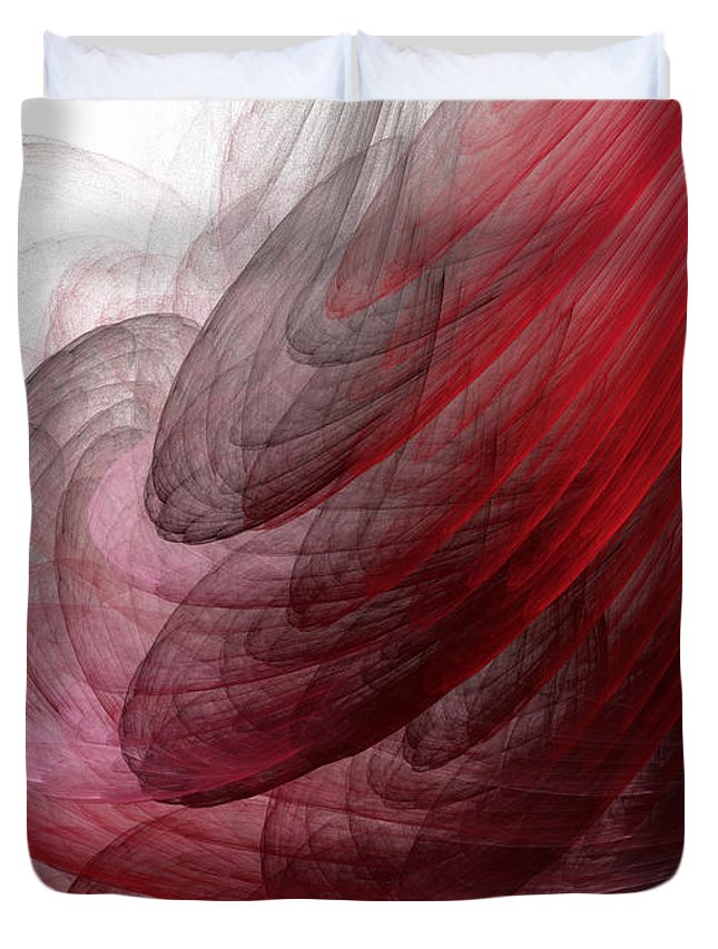 Abstract Art Duvet Cover featuring the painting Circumstances No.1 by Malcolm Regnard