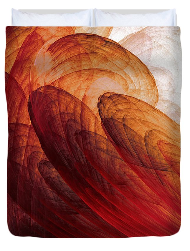 Abstract Art Duvet Cover featuring the painting Circumstances No.2 by Malcolm Regnard