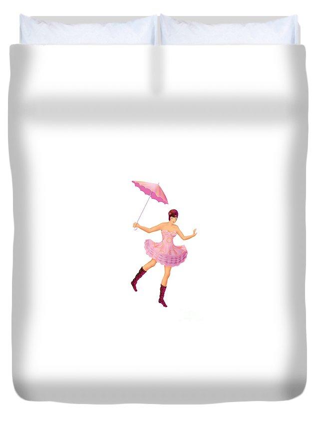 Ballerina Duvet Cover featuring the digital art Circus 3 by Ursula Koehrer
