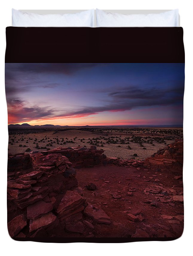 Pueblo Duvet Cover featuring the photograph Citadel Sunset by Mike Dawson
