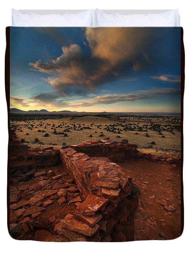 Citadel Duvet Cover featuring the photograph Citadel Walls by Mike Dawson
