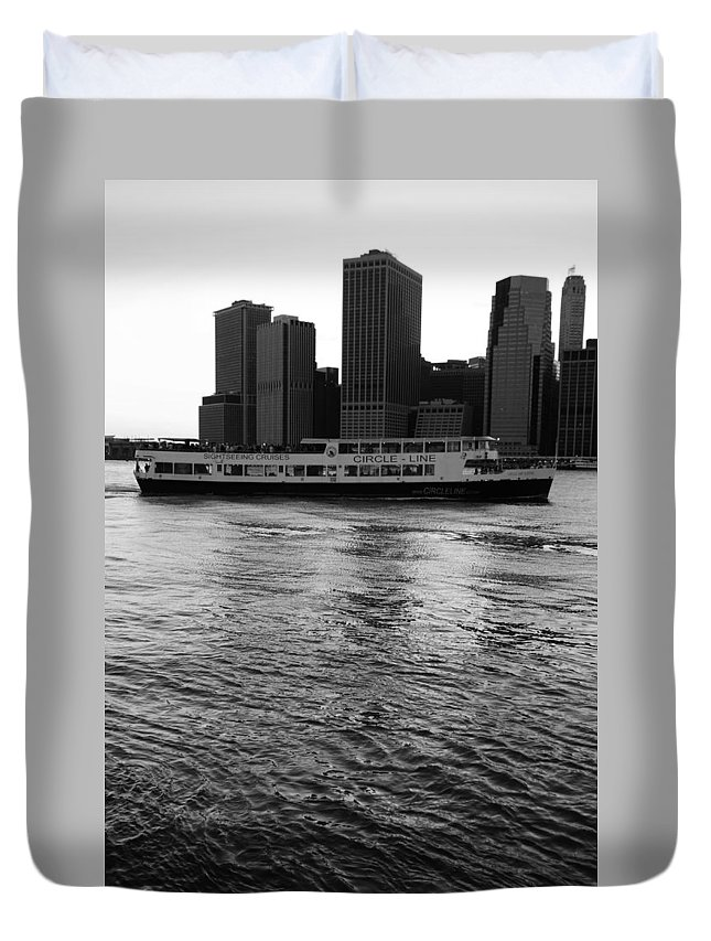 Cities Duvet Cover featuring the photograph Cities And Rivers Ny1 by S Dolinni