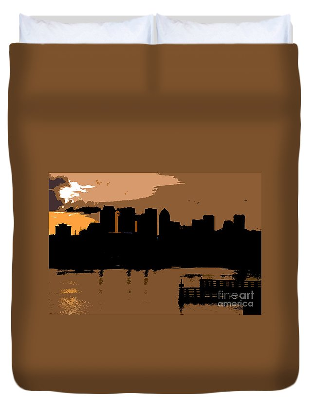 City Duvet Cover featuring the photograph City By The Bay by David Lee Thompson