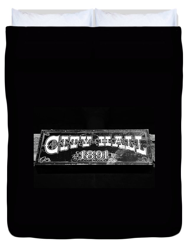 City Hall Duvet Cover featuring the photograph City Hall 1891 by David Lee Thompson