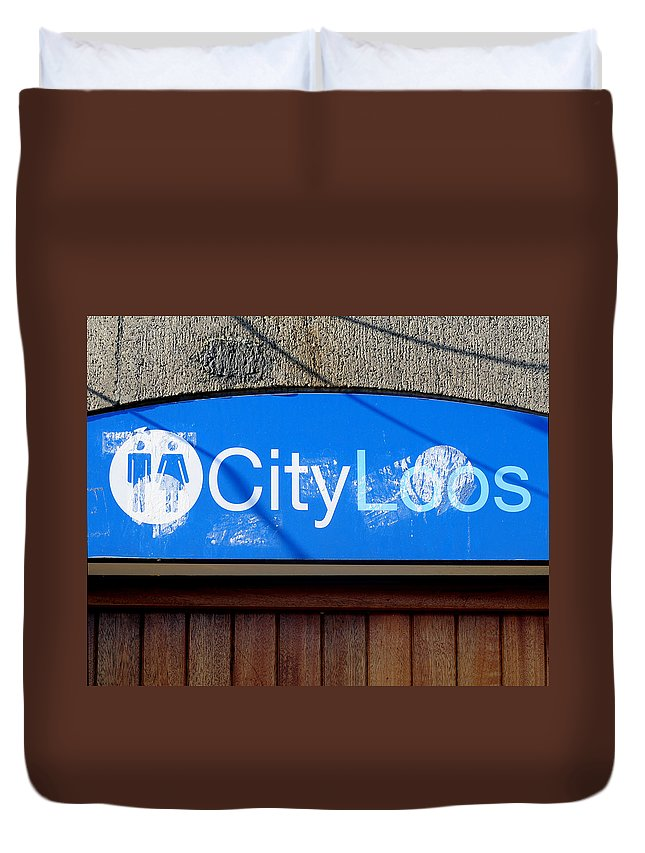 Color Photograph Duvet Cover featuring the photograph City Loos by Dan Albright