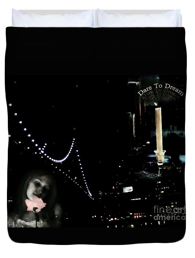 City Duvet Cover featuring the photograph City Of Dreams by Madeline Ellis