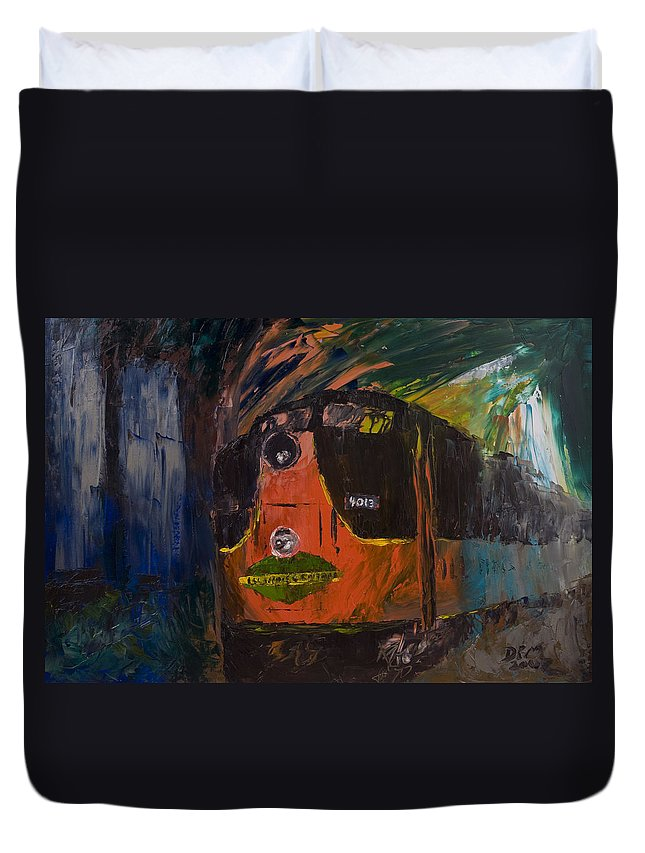 Train Duvet Cover featuring the painting City Of New Orleans by David McGhee