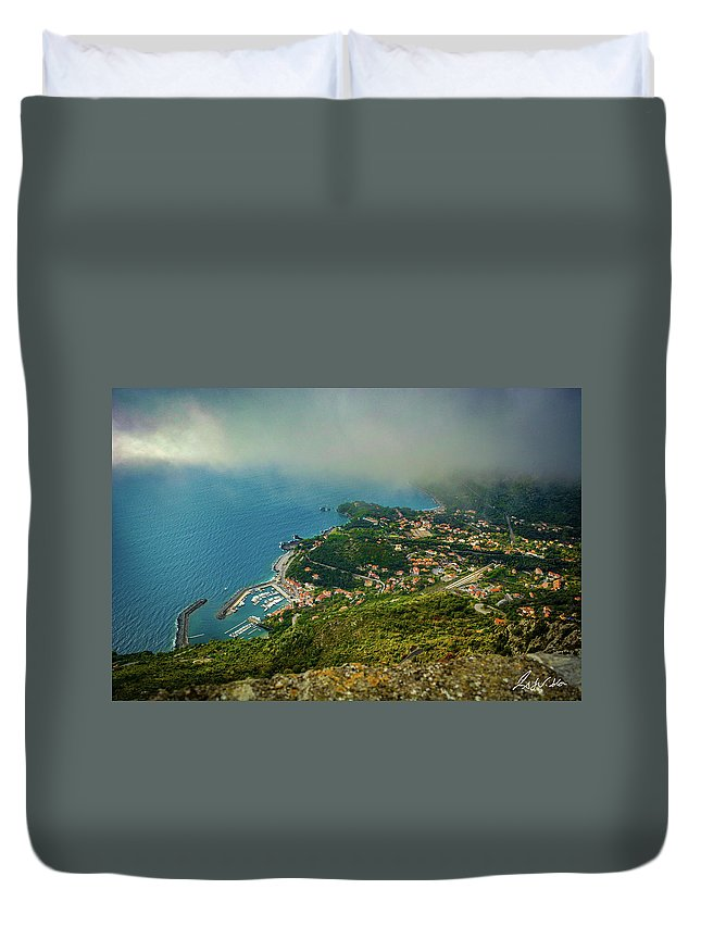 Basilicata Duvet Cover featuring the photograph City Roofs by Fabio Seda