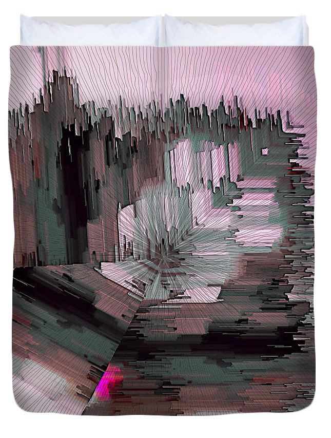 Ebsq Duvet Cover featuring the digital art Cityscape 2 by Dee Flouton