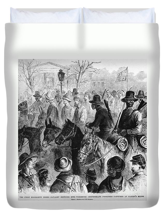 1864 Duvet Cover featuring the photograph Civil War: Prisoner, 1864 by Granger