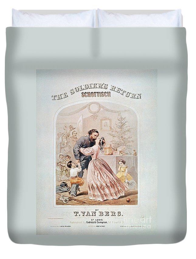 1864 Duvet Cover featuring the photograph Civil War: Songsheet by Granger