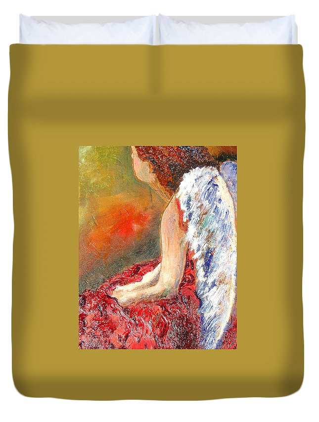 Angels Duvet Cover featuring the painting Clarity Of Thought by J Bauer