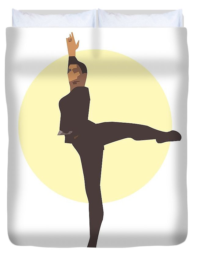 Dancer Duvet Cover featuring the digital art Classic Ballet Dancer by Joaquin Abella