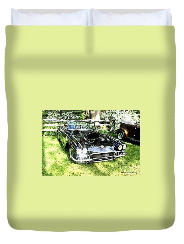 Beauty Car Auto Automobile Photograph Collect Collection Vintage Classic Life Duvet Cover featuring the photograph Classic Beauty. by Stevie Ellis