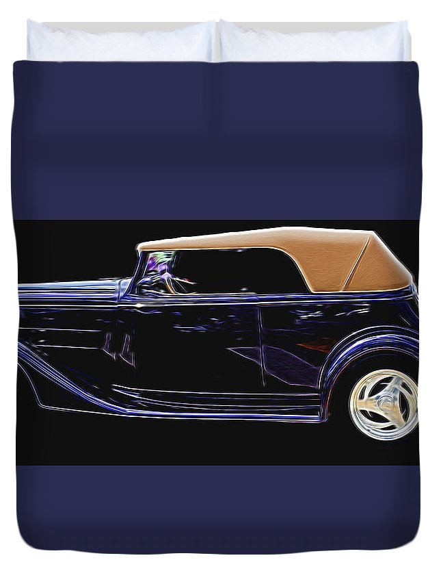 Duvet Cover featuring the photograph Classic Car 4 by Cathy Anderson