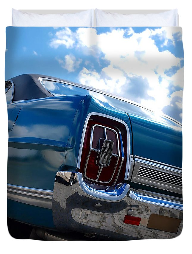 Rear Duvet Cover featuring the photograph Classic Car by Beate Gube