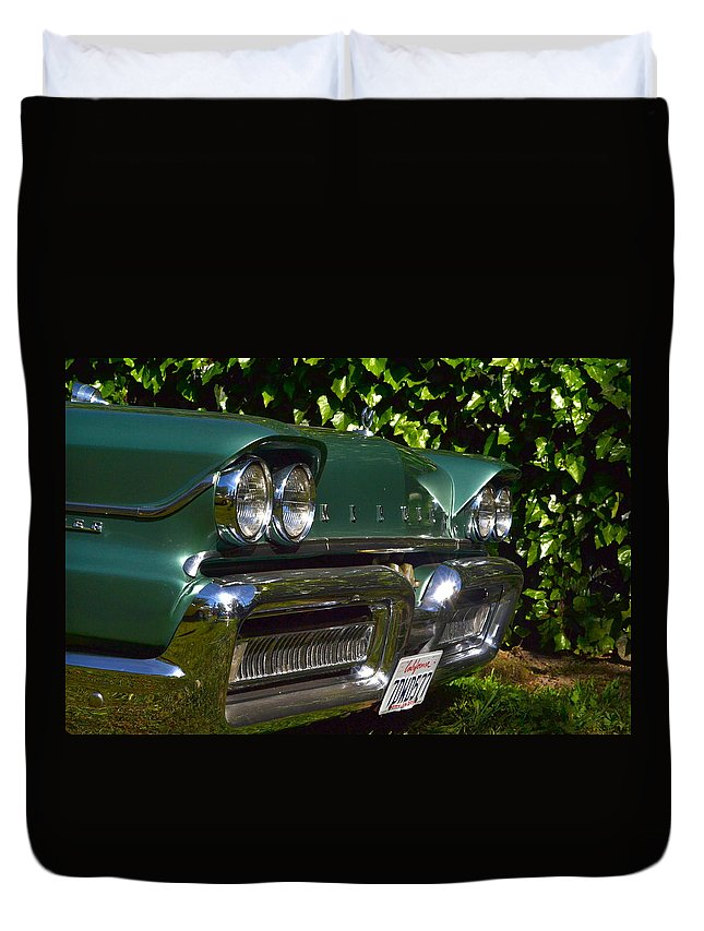 Duvet Cover featuring the photograph Classic Chrome by Dean Ferreira