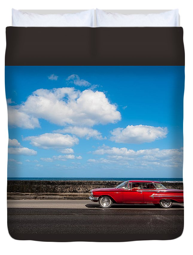 Cuba Duvet Cover featuring the photograph Classic Cuba Car V by Rob Loud