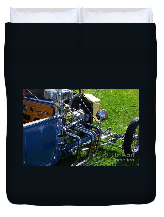 Ford Hotrod Duvet Cover featuring the photograph Classic Ford Hotrod by Mary Deal