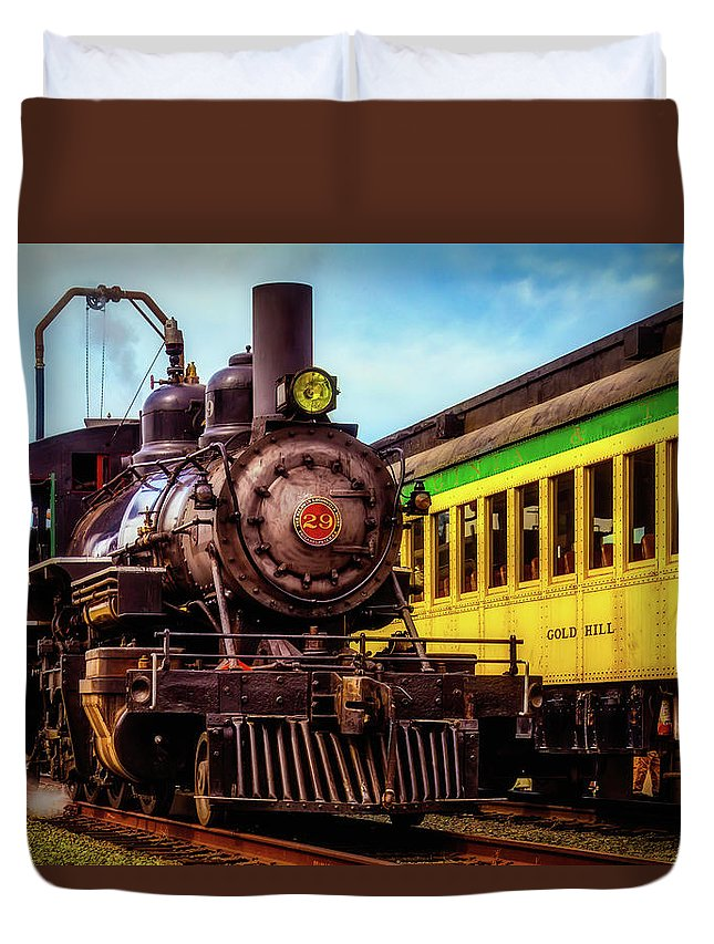 Virgina & Truckee Duvet Cover featuring the photograph Classic Steam Train No 29 by Garry Gay