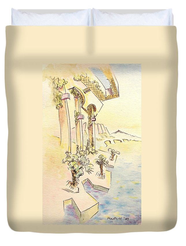 Italian Duvet Cover featuring the painting Classic Summer Morning by Dave Martsolf