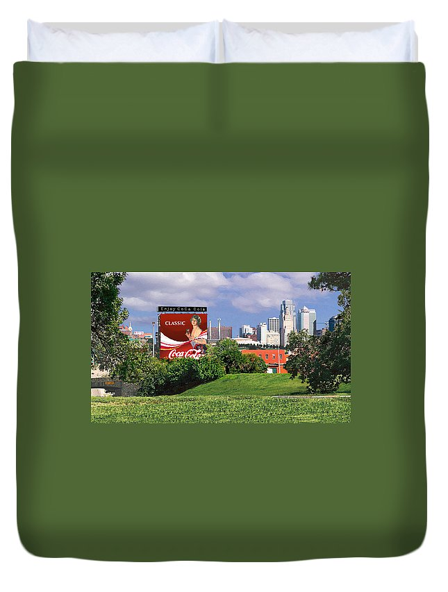 Landscape Duvet Cover featuring the photograph Classic Summer by Steve Karol